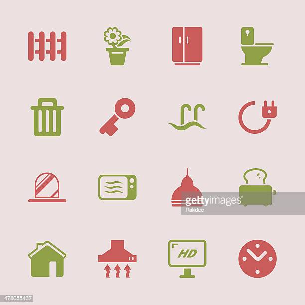 home icons - color series | eps10 - exhaust fan stock illustrations, clip art, cartoons, & icons
