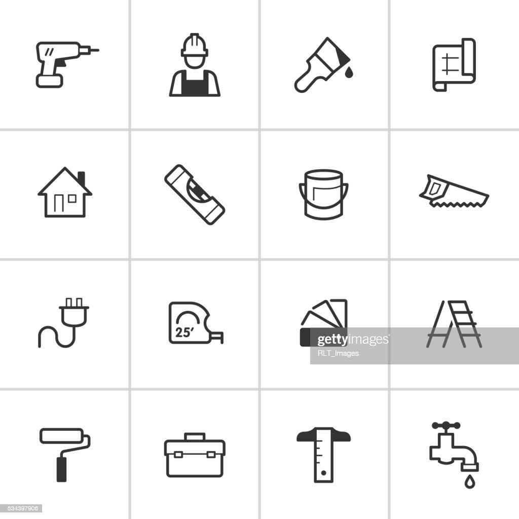 Home Improvement Icons — Inky Series