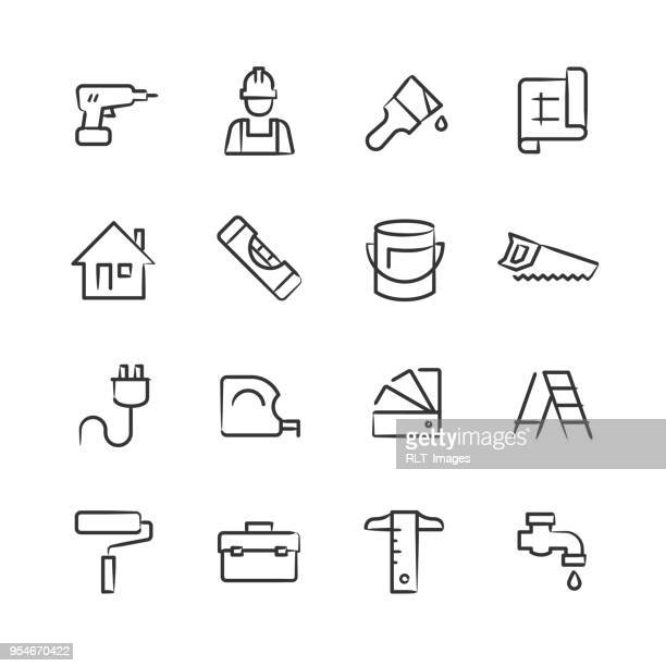 Home Improvement Icons — Sketchy Series