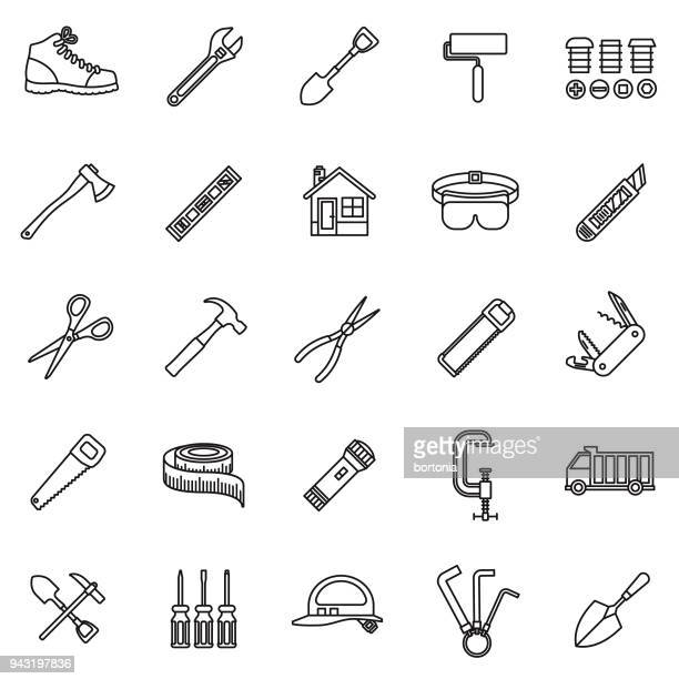 Home Improvement Thin Line Icon Set