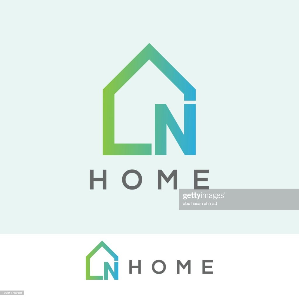 home initial Letter N icon design
