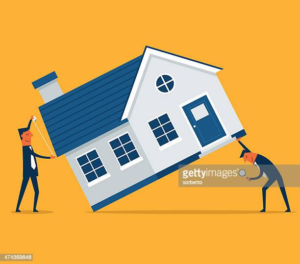 home inspection - house exterior stock illustrations, clip art, cartoons, & icons