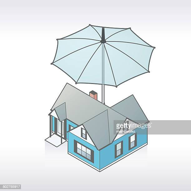 home insurance illustrationen - mathisworks stock-grafiken, -clipart, -cartoons und -symbole