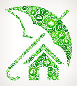 Home Insurance Nature and Environmental Conservation Icon Pattern