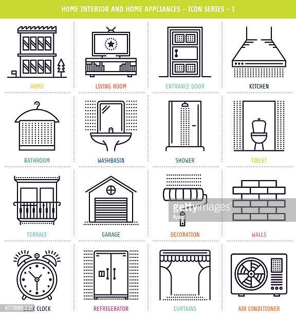 home interior and appliances - bathroom stock illustrations, clip art, cartoons, & icons