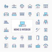 Home, Interior & Furniture Icon Set