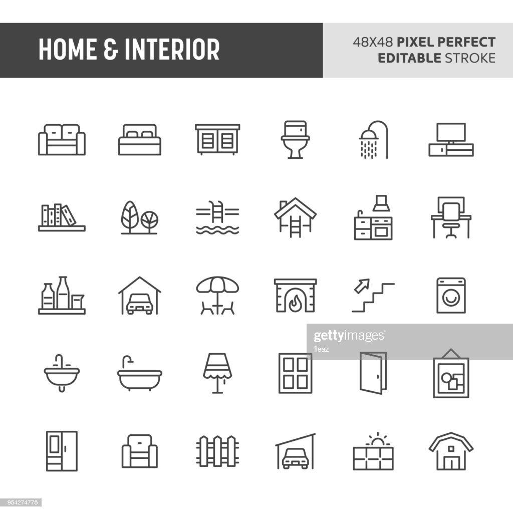Home & Interior Icon Set