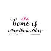 Home is when the heart is lettering photography set