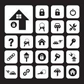 home key and car key symbol