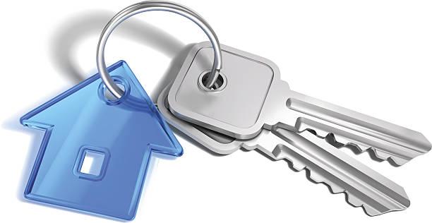 ご自宅のキー - キーホルダーチャーム点のイラスト素材/クリップアート素材/マンガ素材/アイコン素材