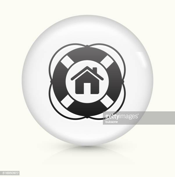 Home Life Saver icon on white round vector button