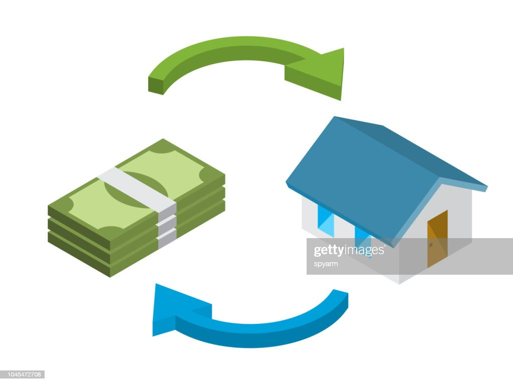 Home loan, home for cash concept