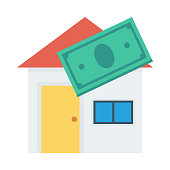 Home mortgage Flat Vector Icon