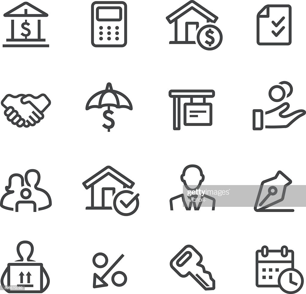 Home Mortgage Icons - Line Series : stock illustration