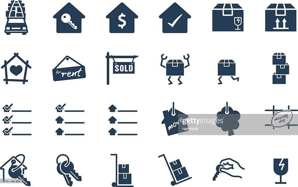 Home Move Service Vector Icon Set