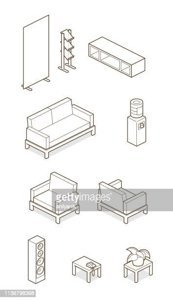 home/ office elements - chair stock illustrations
