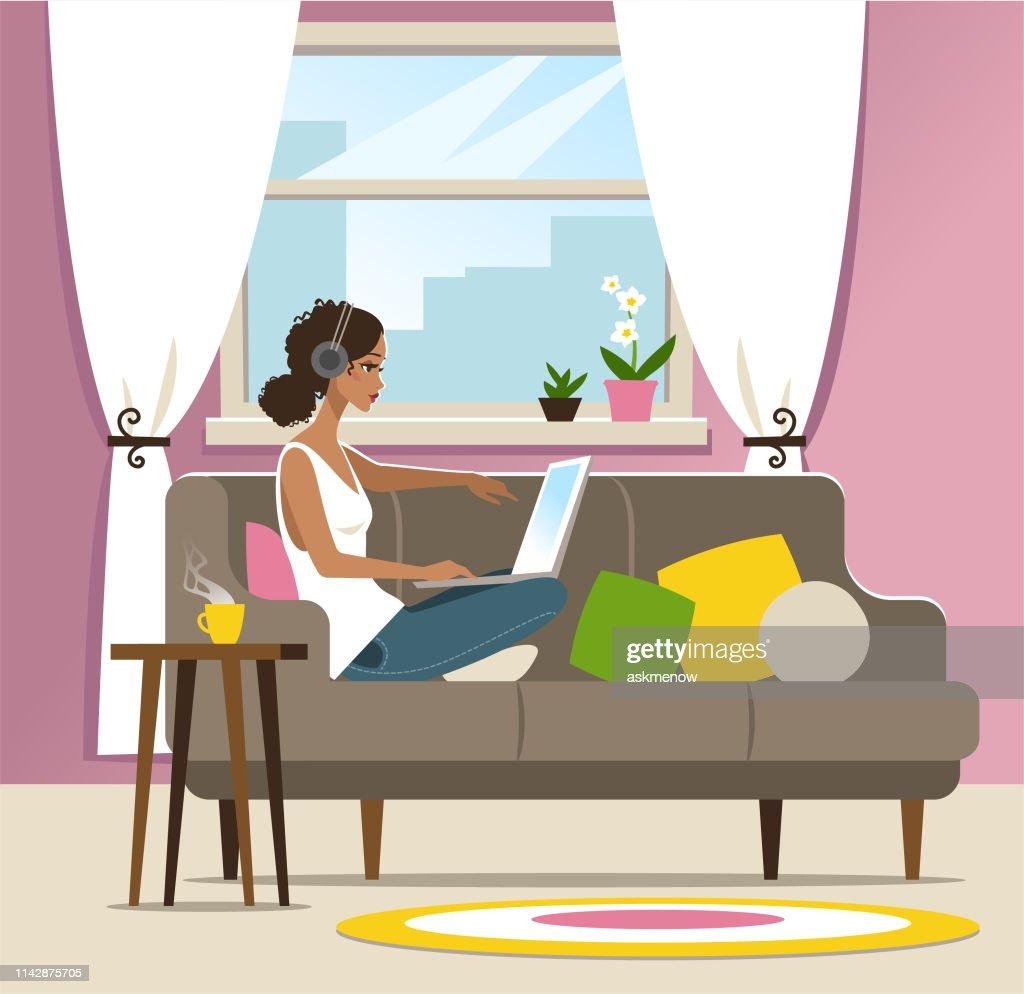 ホームオフィス : ストックイラストレーション