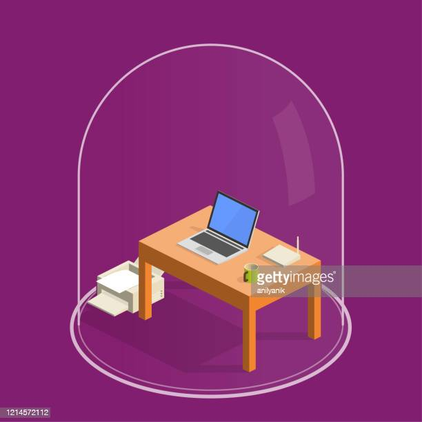 home office - freedom stock illustrations