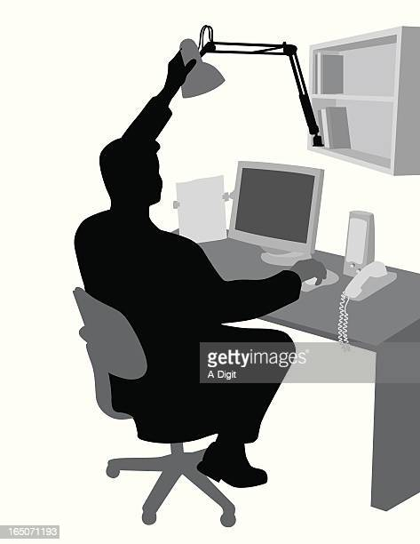 Home Office Vector Silhouette