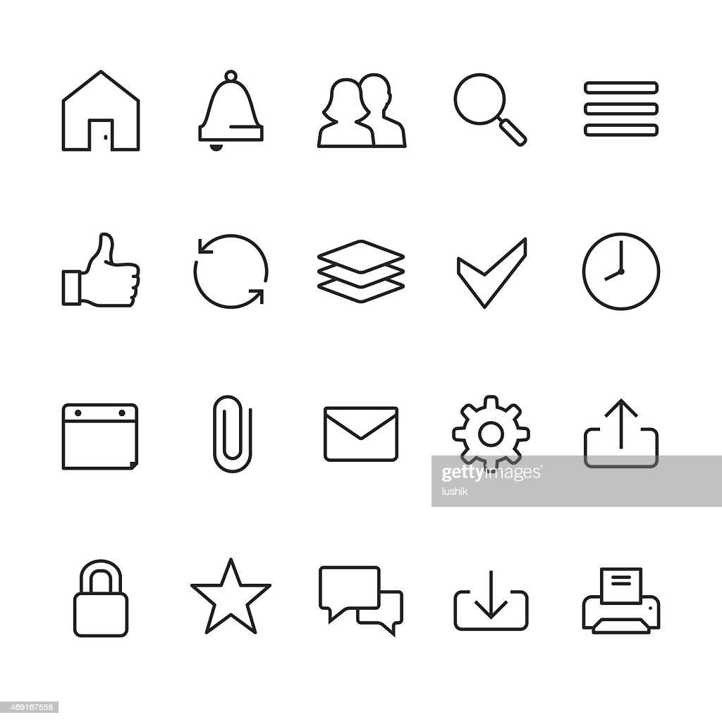 ホームページインタフェース関連のベクトルのアイコン : ストックイラストレーション