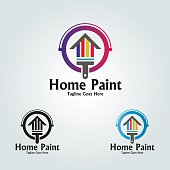 Home paint vector