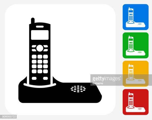 home phone icon flat graphic design - headquarters stock illustrations