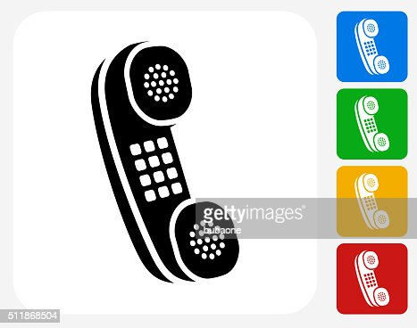 Touchscreen Phone Icon Flat Graphic Design Vector Art | Getty Images
