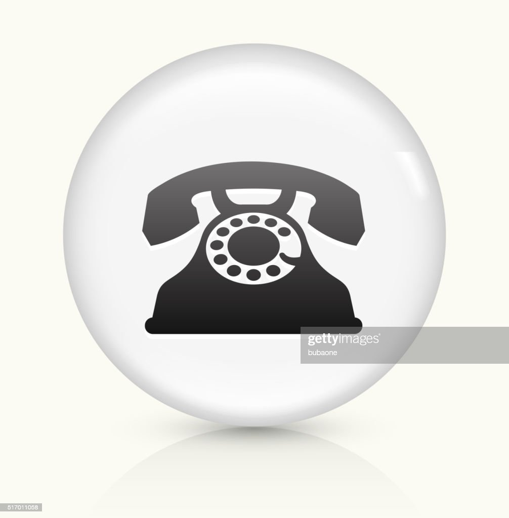 Home Phone Icon On White Round Vector Button Vector Art Getty Images