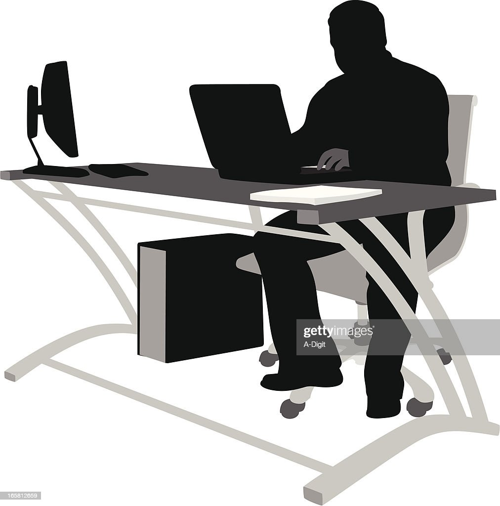 Home Productivity Vector Silhouette : stock illustration