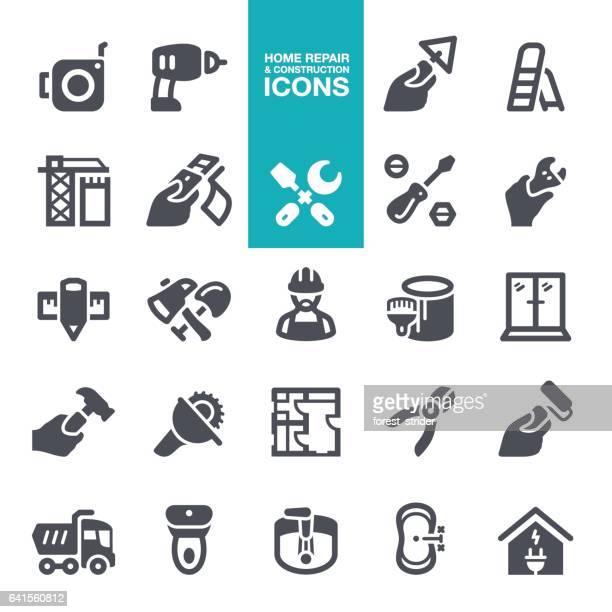 ilustraciones, imágenes clip art, dibujos animados e iconos de stock de reparación de inicio y los iconos de construcción - soldador