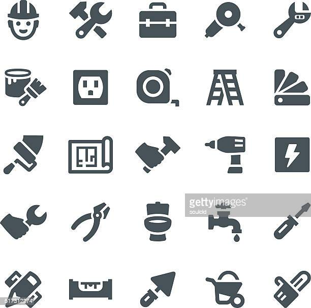home repair icons - tape measure stock illustrations