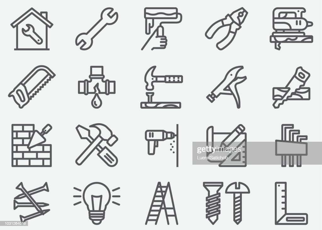 Home Repair Line Icons