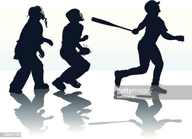 Home Run - Baseball Batter Hitting or Pop Fly