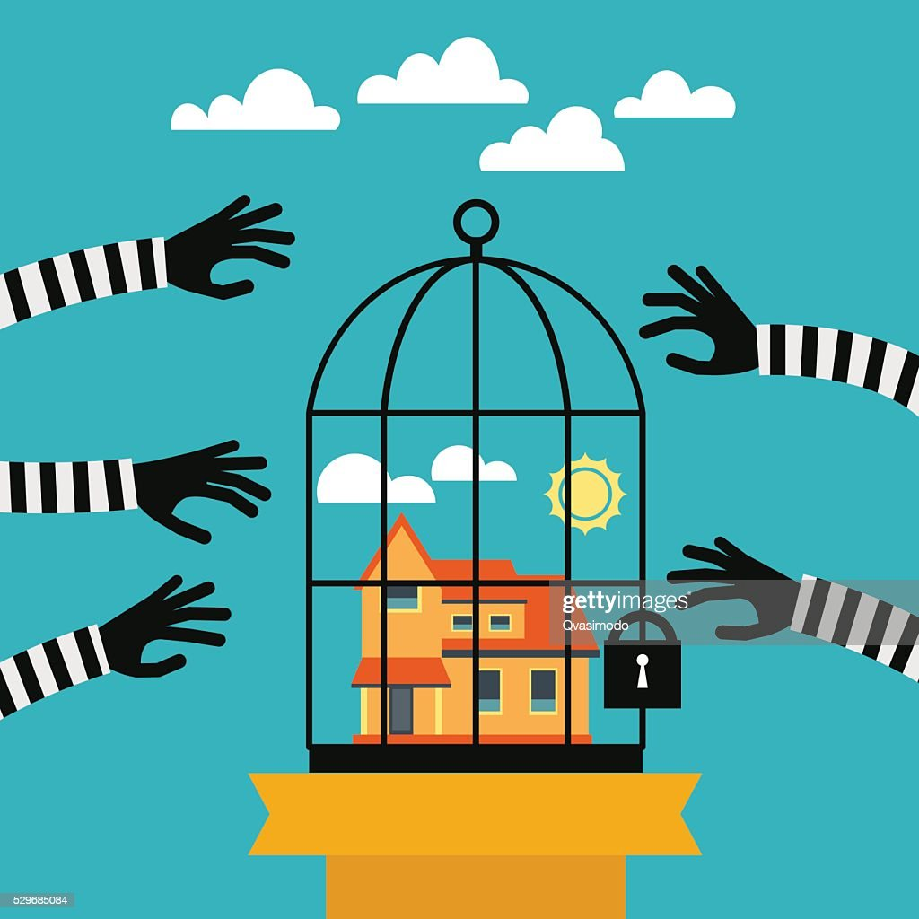 Home security and protection vector concept