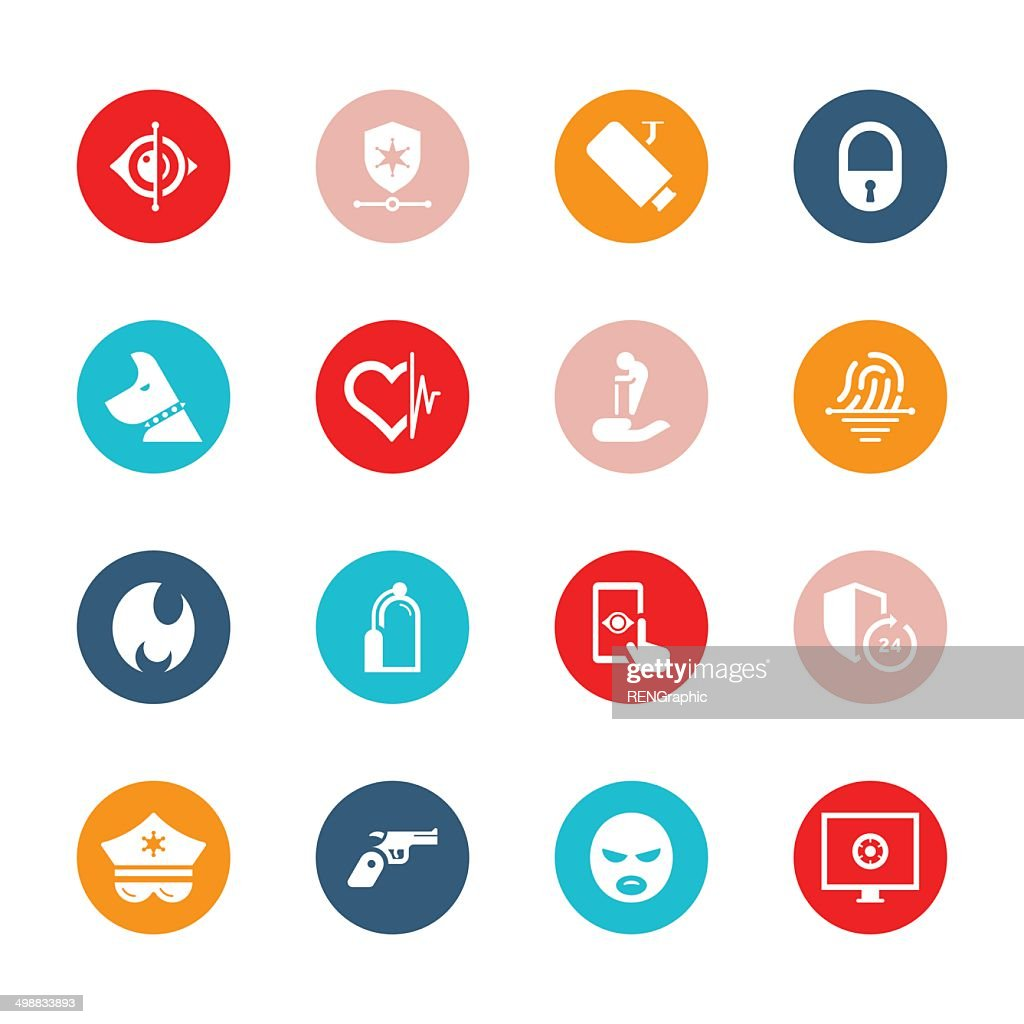 Home Security & Care Icon Set | TIDE Series : stock illustration