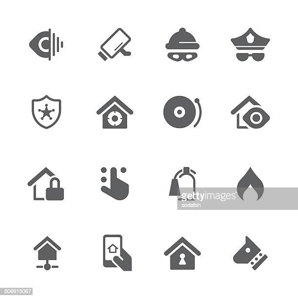 Home security icons/prime series