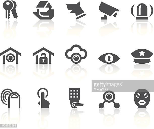 Home Security Icons/einfache schwarz-Serie