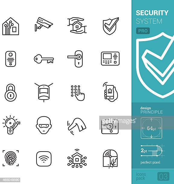 Home security system vector icons - PRO pack