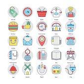 Home Services Flat Circular Icons Set 7