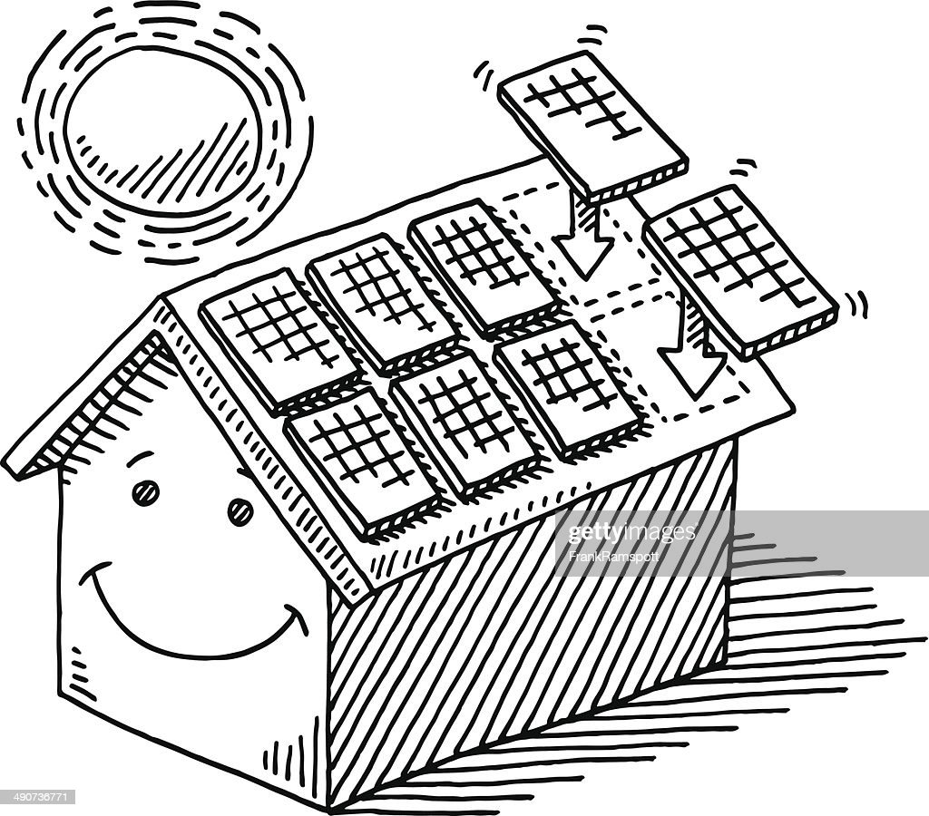 It's just an image of Fabulous Easy Solar Panel Drawing