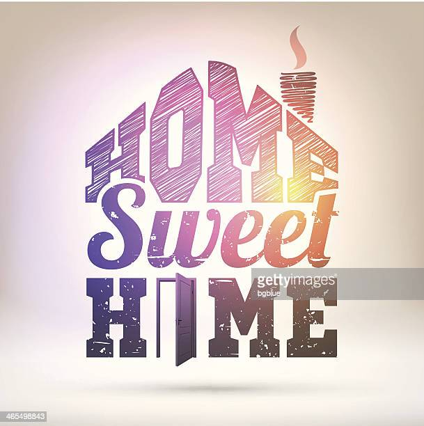 Illustrations et dessins anim s de home sweet home getty for Home sweet home arredamento