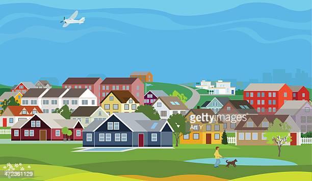 illustrations, cliparts, dessins animés et icônes de home, sweet maisons - village
