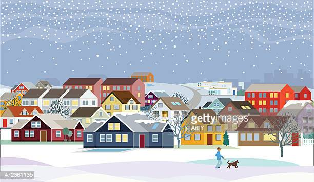 home - sweet homes, winter - frost stock illustrations, clip art, cartoons, & icons