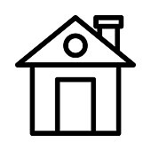 home Thin Line Vector Icon