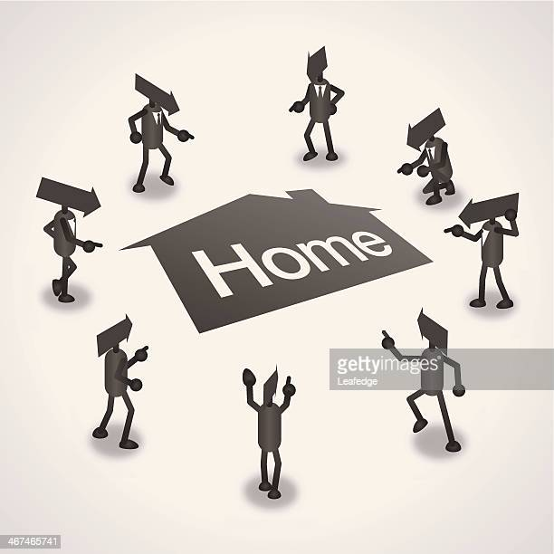 home - surrounding stock illustrations, clip art, cartoons, & icons