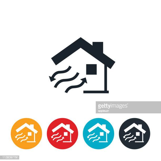home ventilation icon - air duct stock illustrations