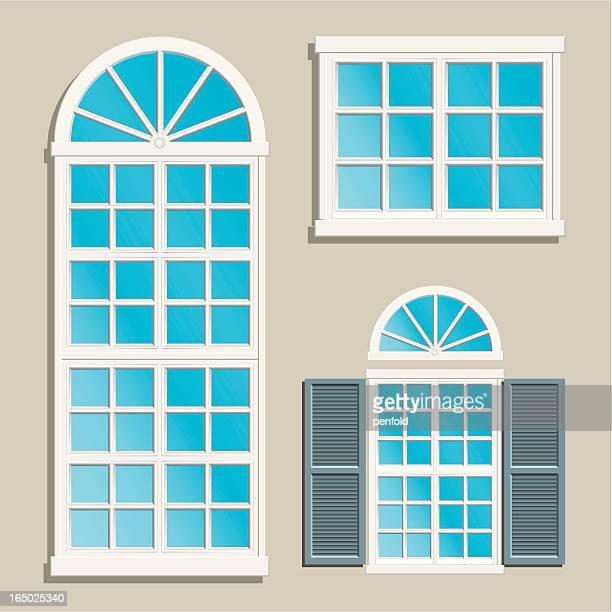 home windows - shutter stock illustrations