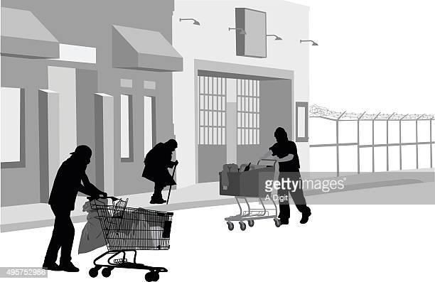 homelessness - vagabond stock illustrations, clip art, cartoons, & icons