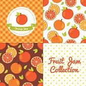 Homemade orange jam collection