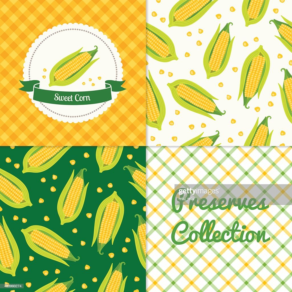 Homemade sweet corn collection